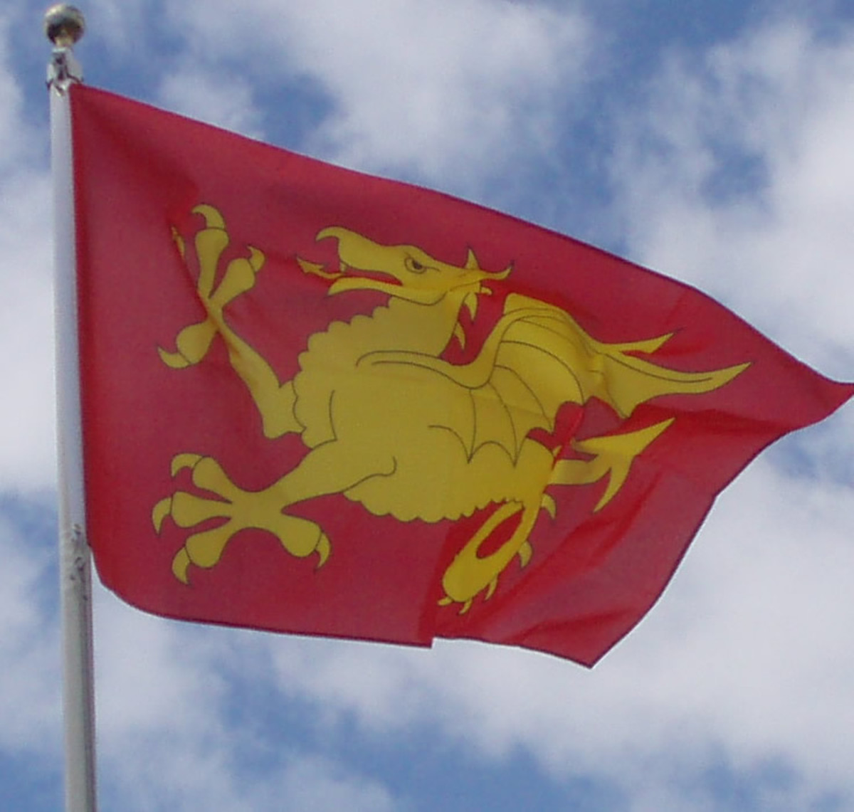 The Wyvern banner of Wessex, symbol of Harold's standing from Godwin's death in 1053