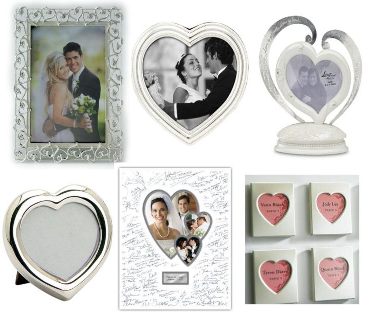 Silver Heart Photo Frames