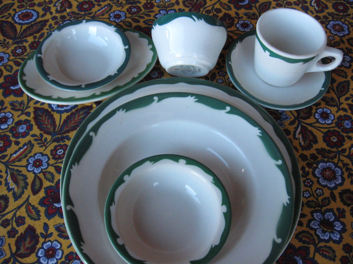 A number of pottery companies made a variety of pieces in the Crest or Wave pattern, which can easily be mixed and matched.