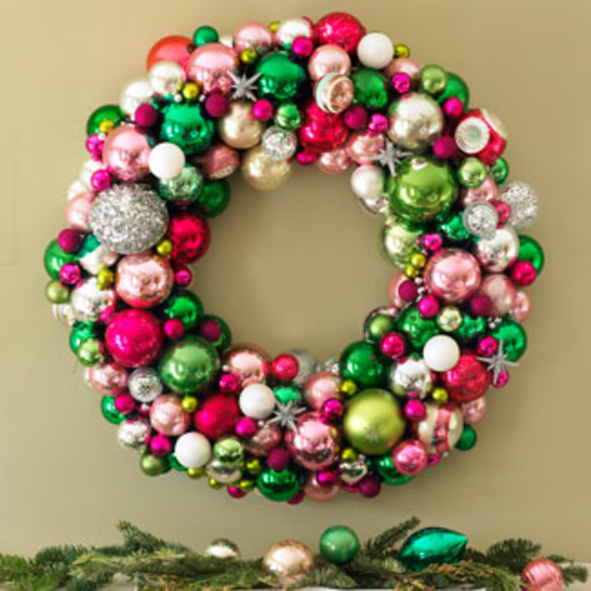 How to Make a Holiday Wreath out of Christmas Ornaments