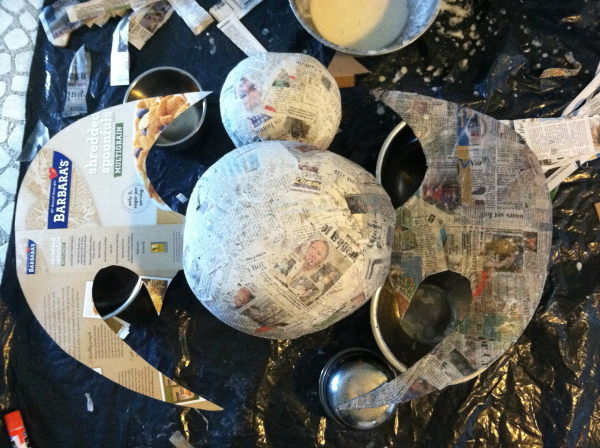 Paper Mache Piñata (in progress) 2 of 3