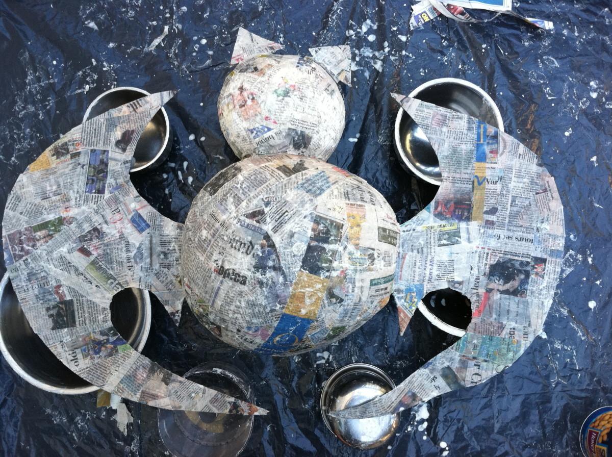 Paper Mache Piñata (in progress) 3 of 3