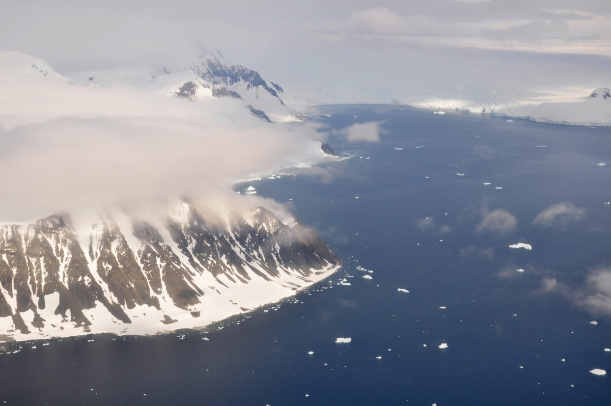 Aerial view of SW Antarctic Peninsula region, picture taken on February 9 2011