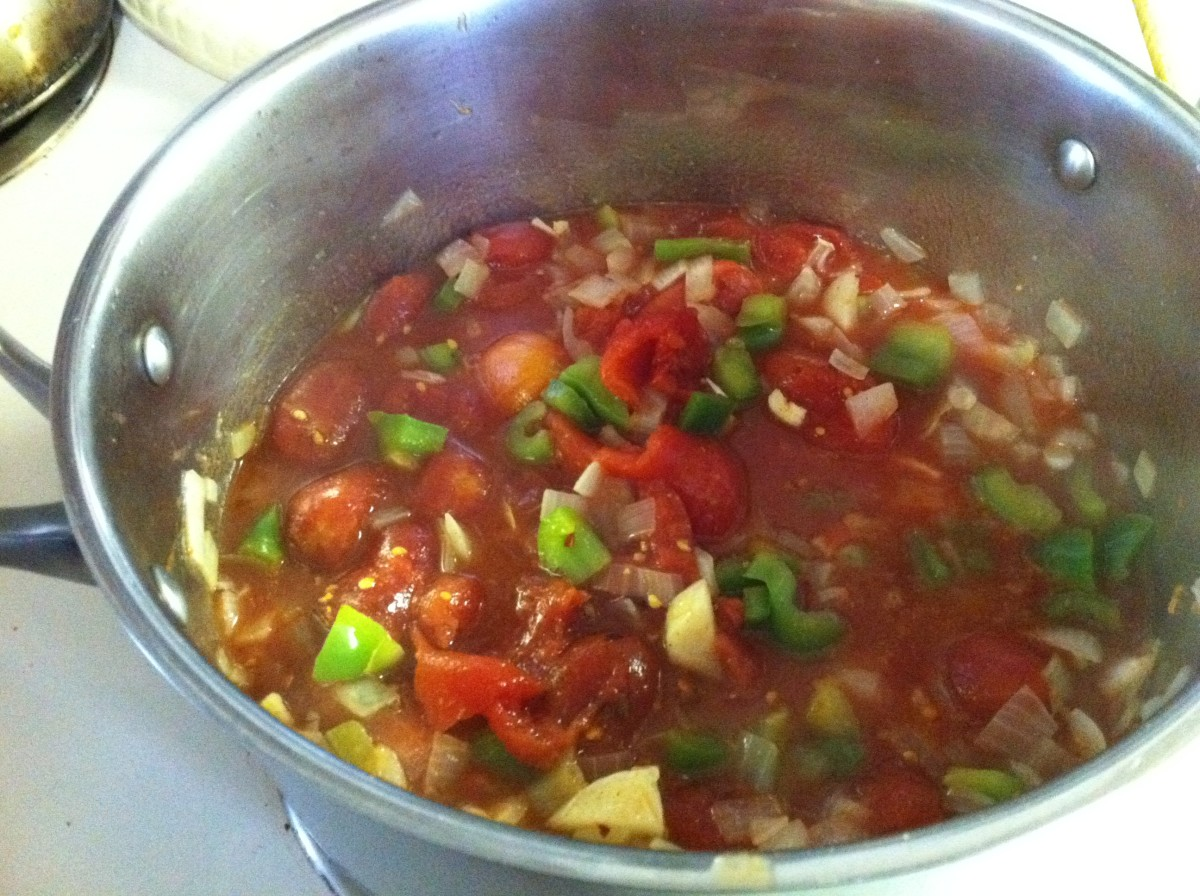 add diced tomatoes and spices