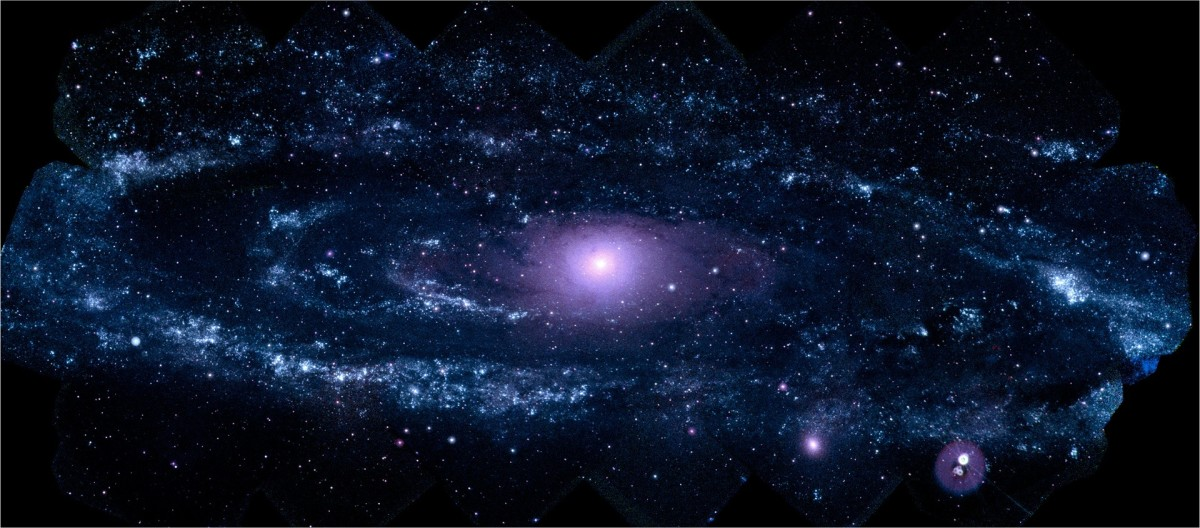 Ultraviolet Portrait of Andromeda Galaxy