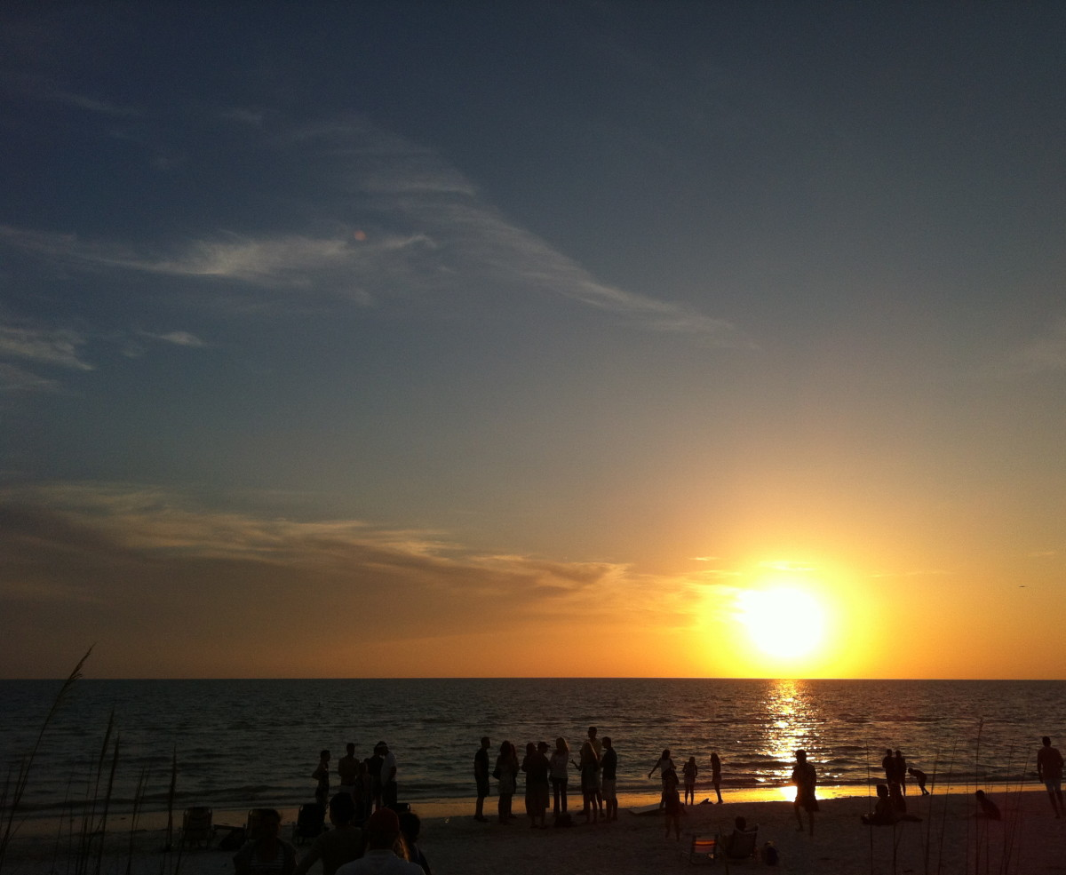 Sunset from The Naples Beach Hotel and Golf Resort