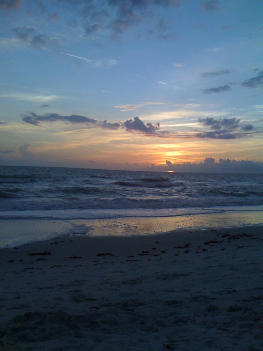 Sunset from Vanderbilt Beach