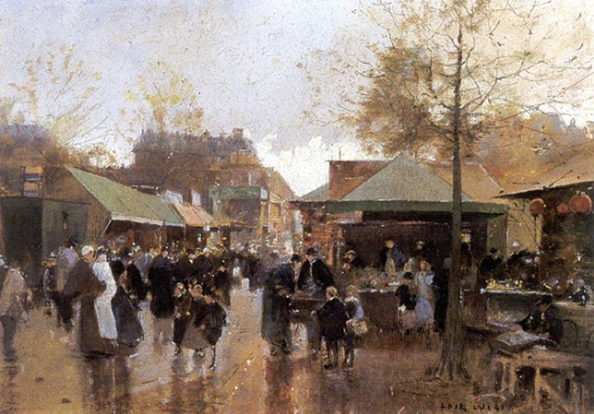"""Luigi Loir's """"Le Marché aux Puces, Porte de Clignancourt"""" (Joseph and Maurice's hometown)"""
