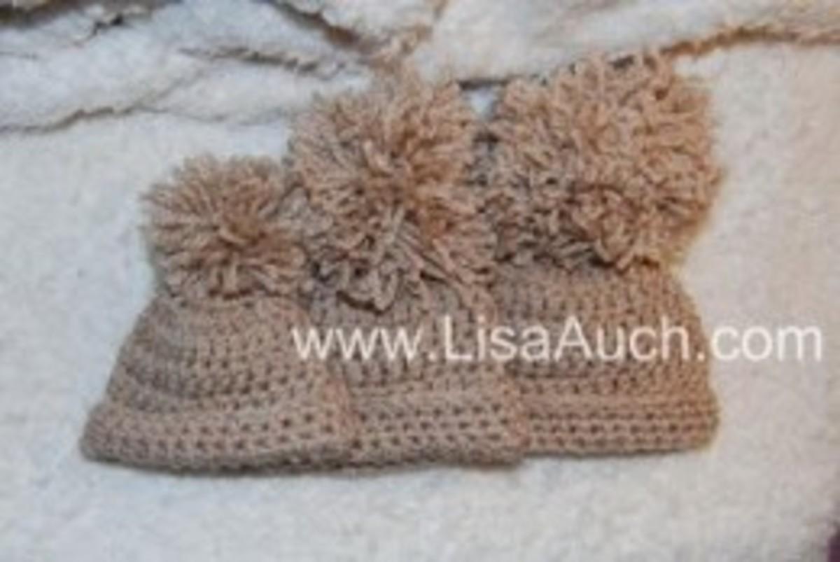 Free Crochet Hat patterns 3 sizes