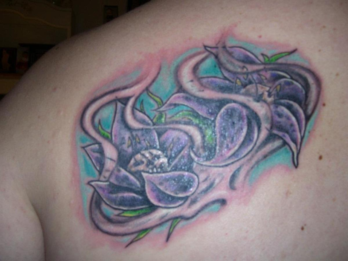 This is my tattoo the day it was completed.