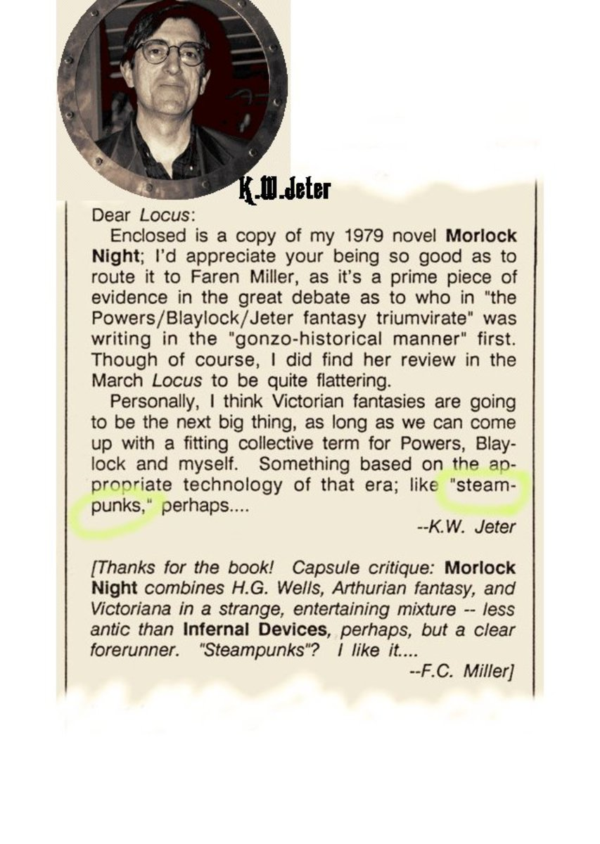 Letter to Editor from SF author  K.W.Jeter - scanned  from Locus Magazine April 1987.