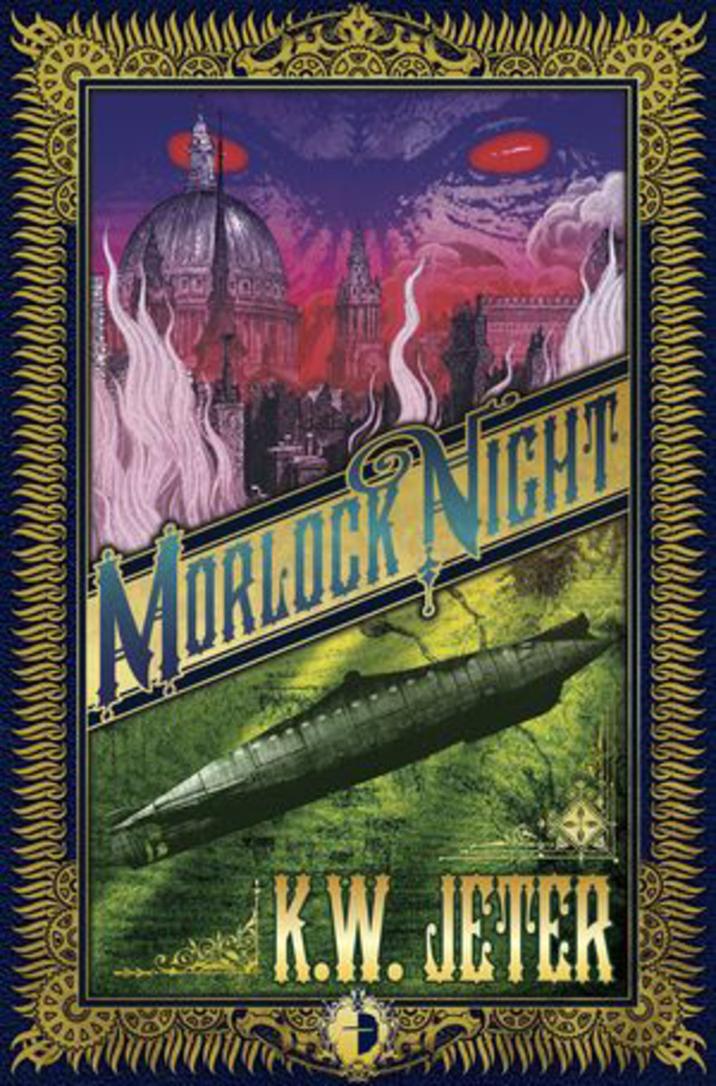 Morlock Night by KW Jeter  first pub. 1979 ( This new edition published by Angry Robot books in 2011 with Cover Art by John Coulthart )