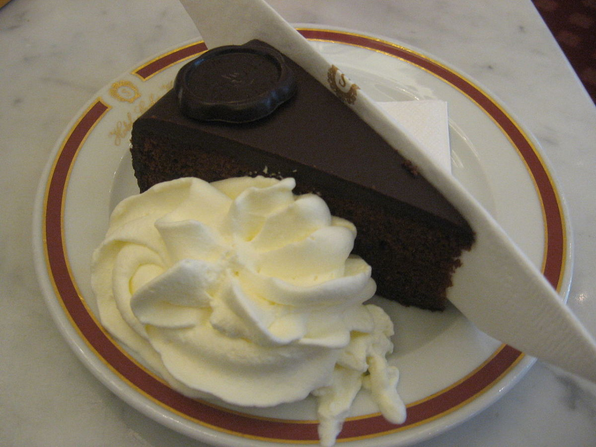 Sacher Torte with Wipped Cream