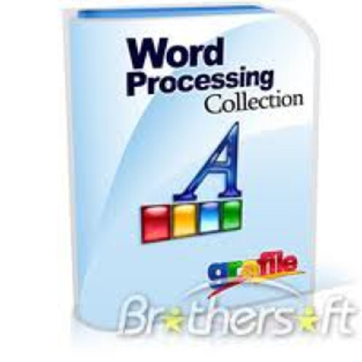 Word processor problems please help!?