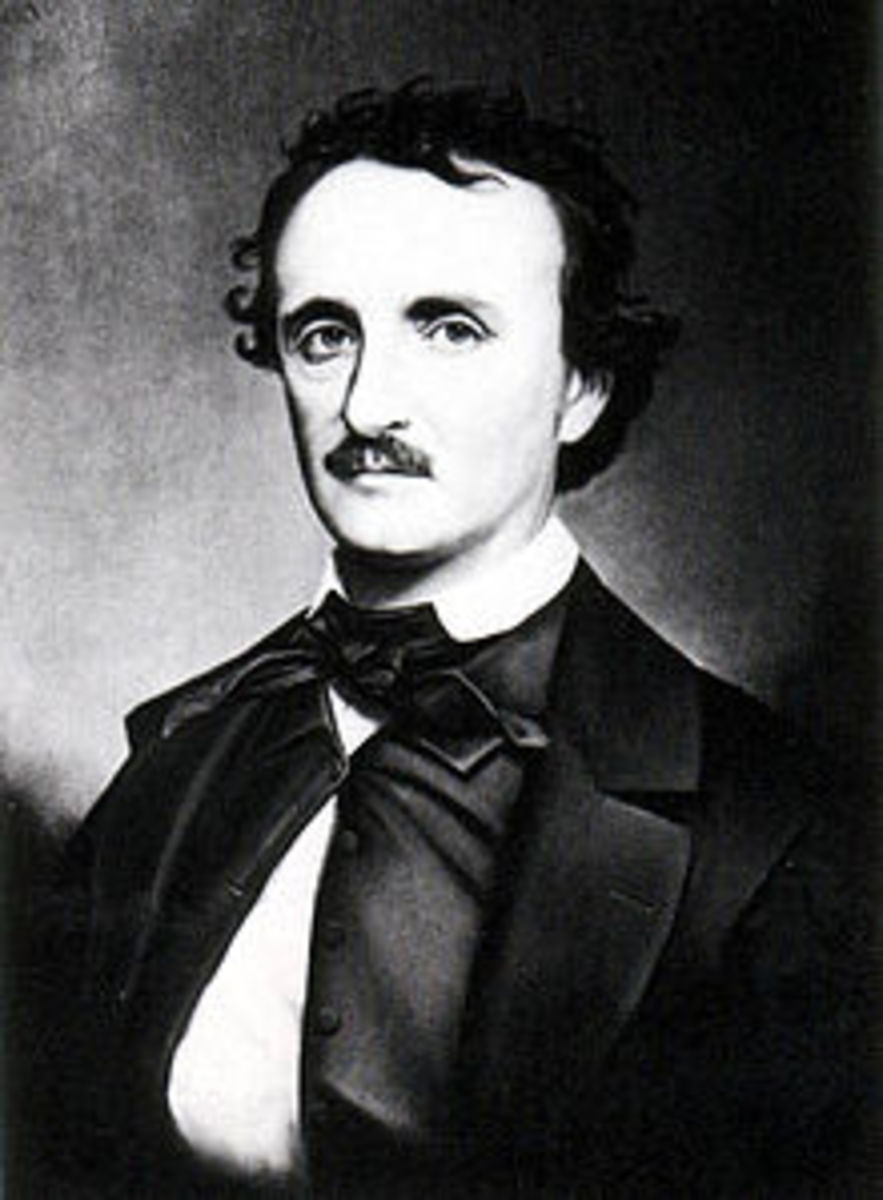 Edgar Allan Poe, author of the Tell-Tale-Heart and The Black Cat.