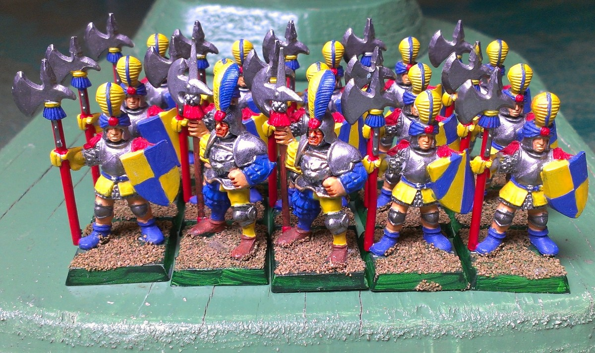 The main stay of many an Empire army Halberdiers.