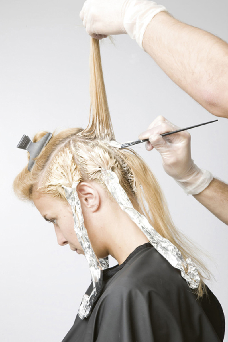 Bleaching the hair causes dryness and split ends