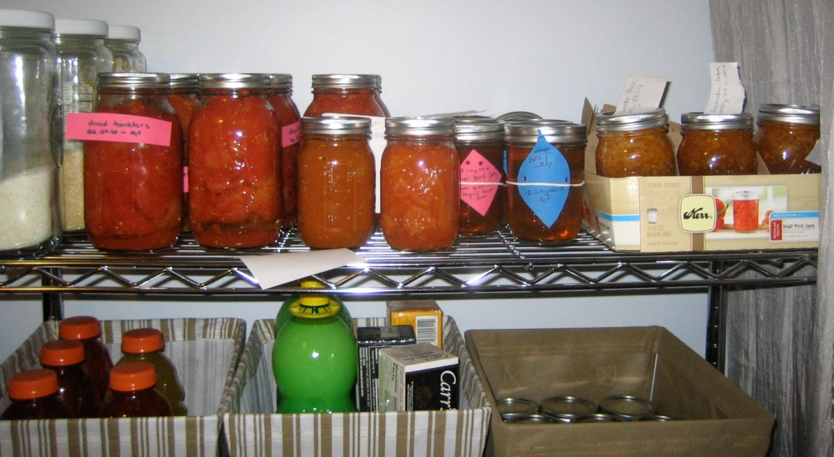 Home Canned Goods Are Oh So Delicious. In This Photo Are A Variety Of Canned Goods.