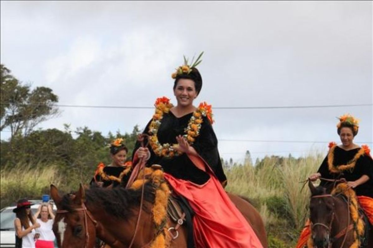 "Island of Lanai Princess Shelby ""Keahi"" Fernandez Representing Lanai in King Kam Parade"