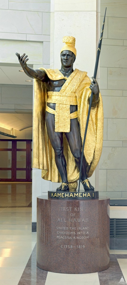 King Kamehameha Statue in Washington, DC. at National Statuary Hall
