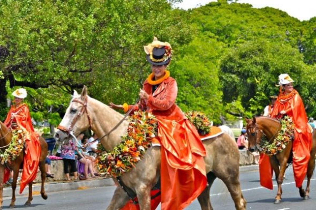 Lanai Pau Princess Representing Island of Lanai in Waikiki Parade