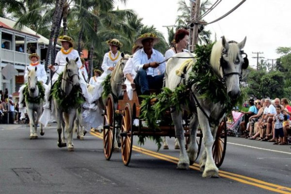 Daughters of Hawai'i Parade Carriage in Kailua-Kona King Kam Parade