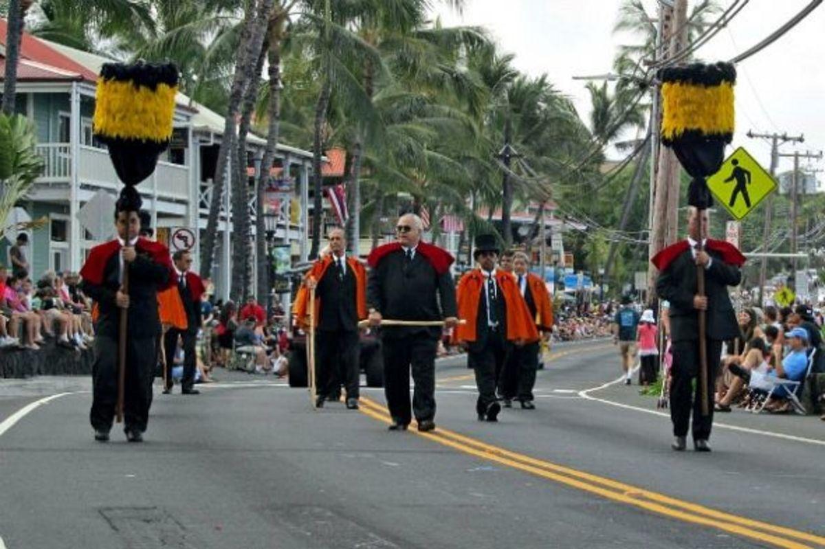 Royal Order of Kamehameha in King Kamehameha Parade in Kailua-Kona