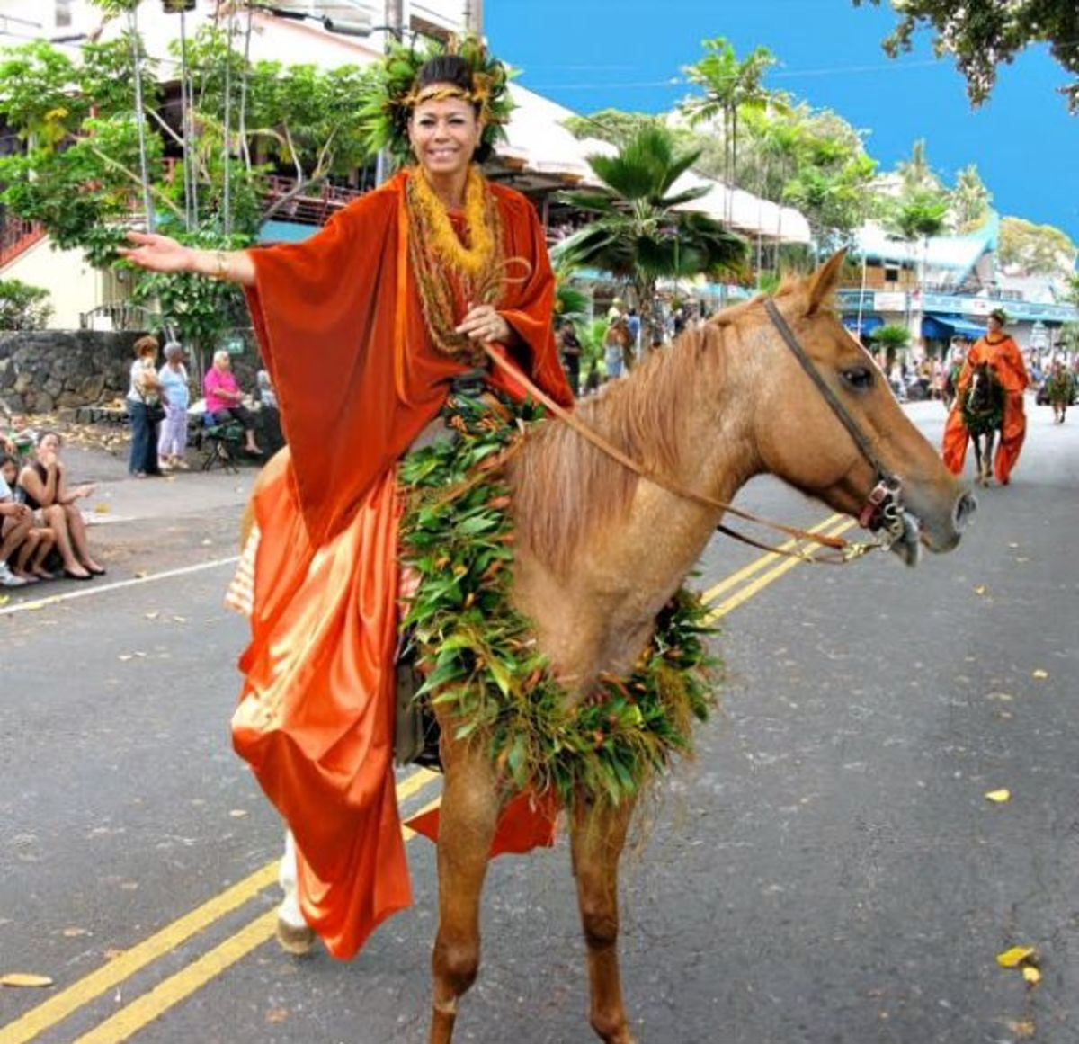 Pau Princess Rider from Kona in King Kam Parade