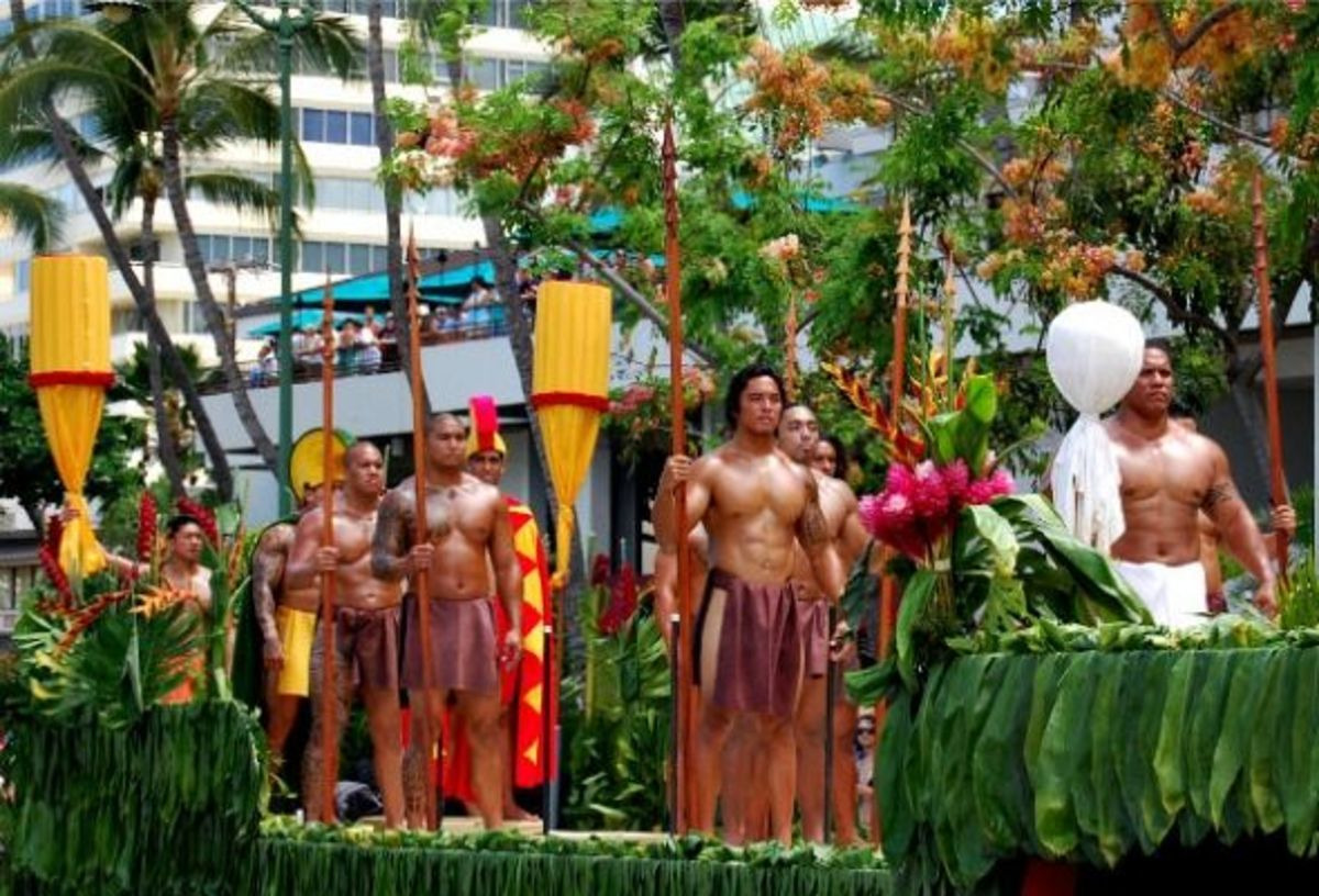King's Royal Guard Float in Honolulu/Waikiki King Kamehameha Day Parade