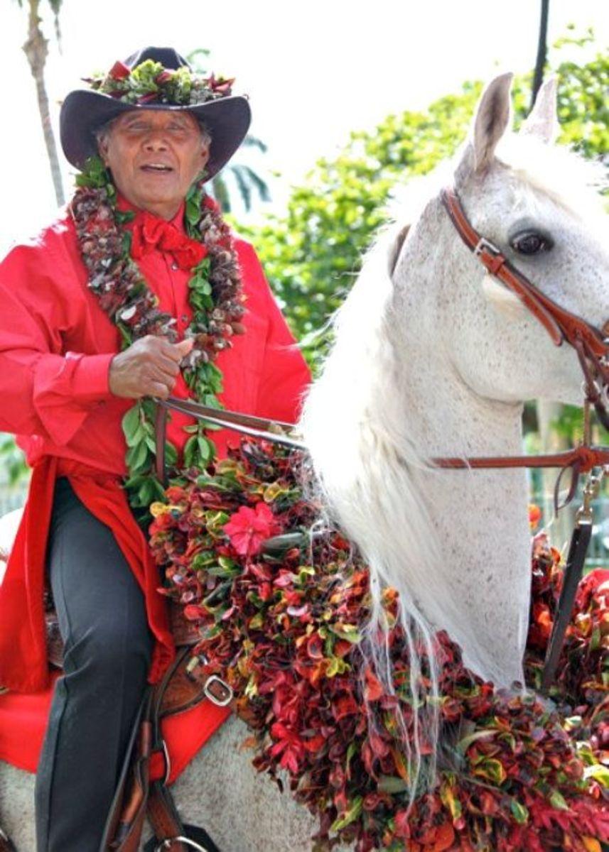 Oahu King Kam Parade - Big Island-Hawaii Pa`u Out Rider