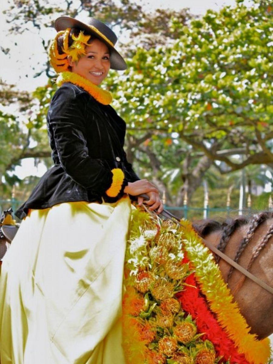 Oahu King Kam Parade - Pau Rider Attendant