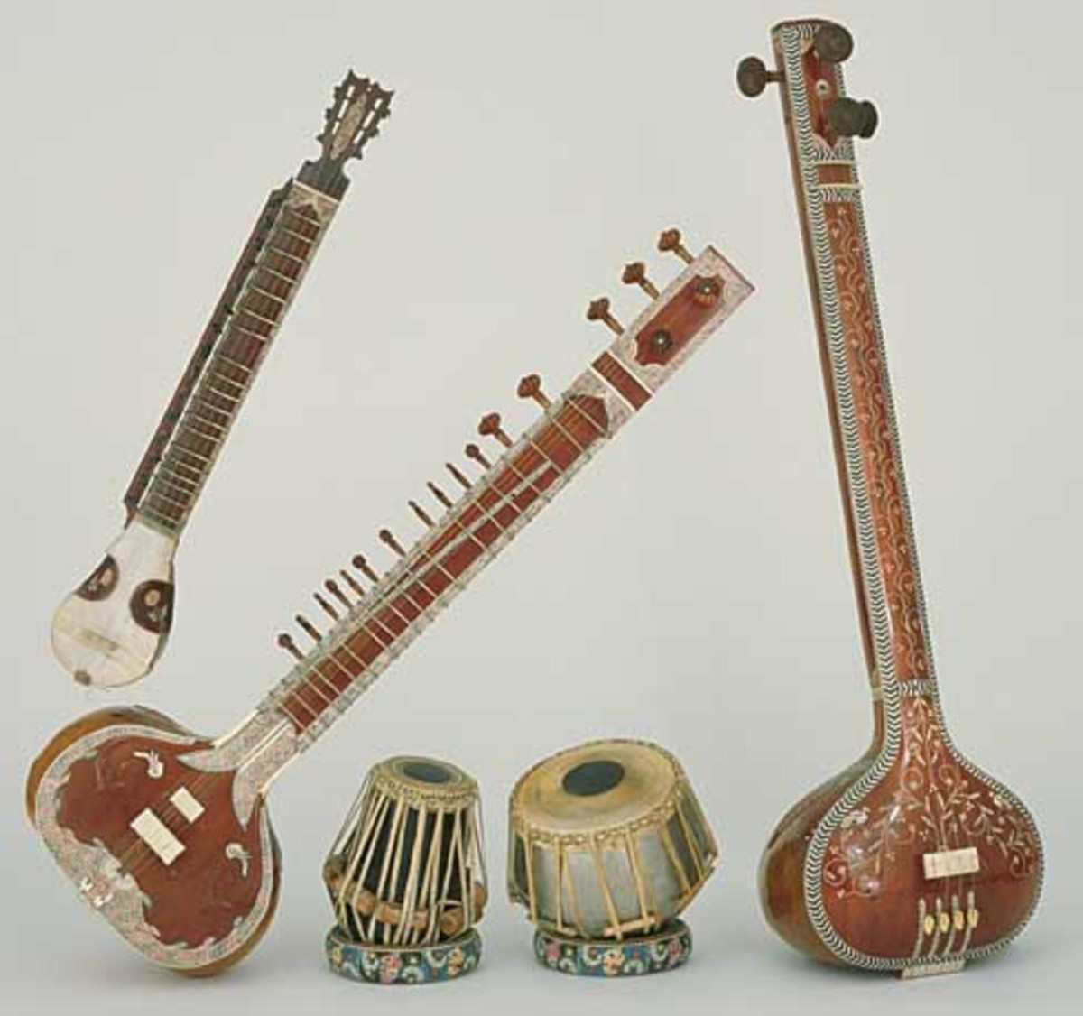 A range of Indian instruments.