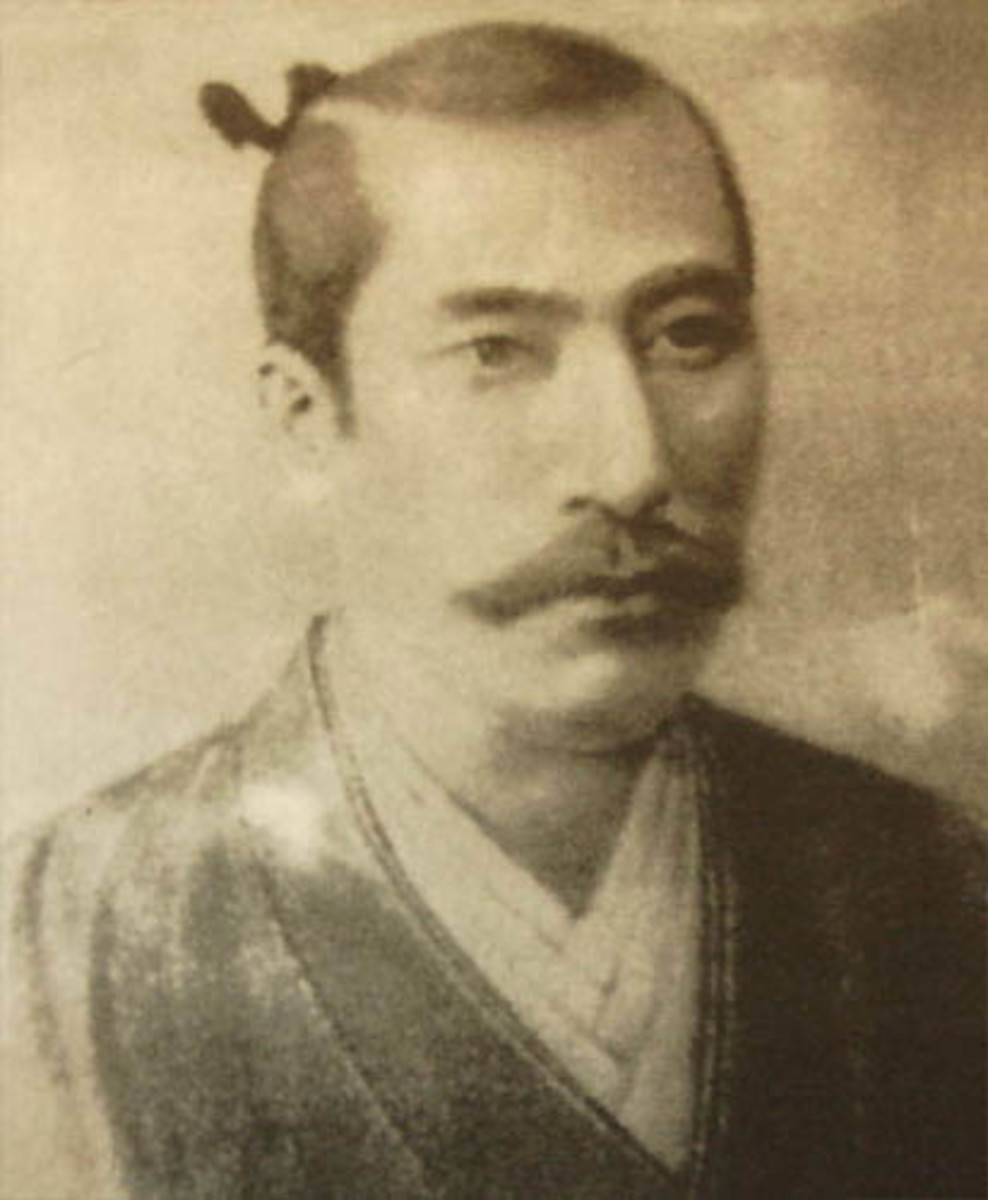 A photo of Oda Nobunaga by Giovanni Nicolao.