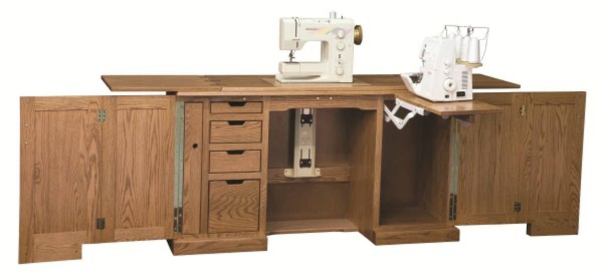 Amish Deluxe Sewing Machine Cabinet