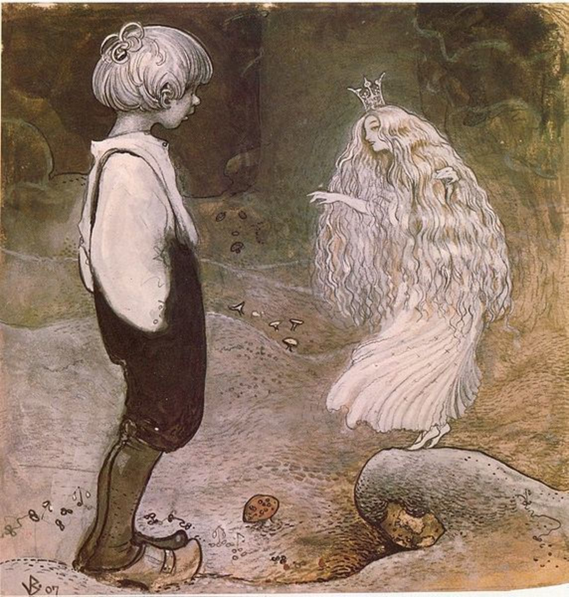 She Was Changed By Magic Into A Little Fairy by John Bauer from Wikipedia