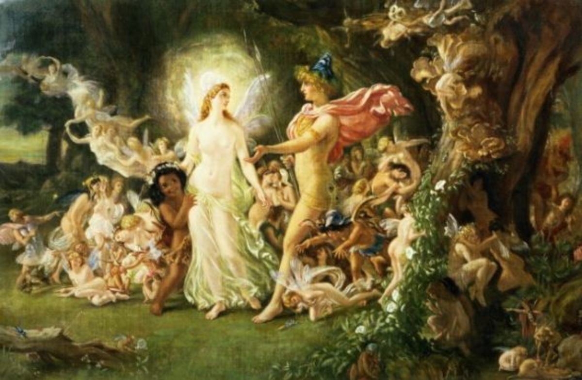 Oberon And Titania by Sir Joseph Noel Paton found on Wikipedia