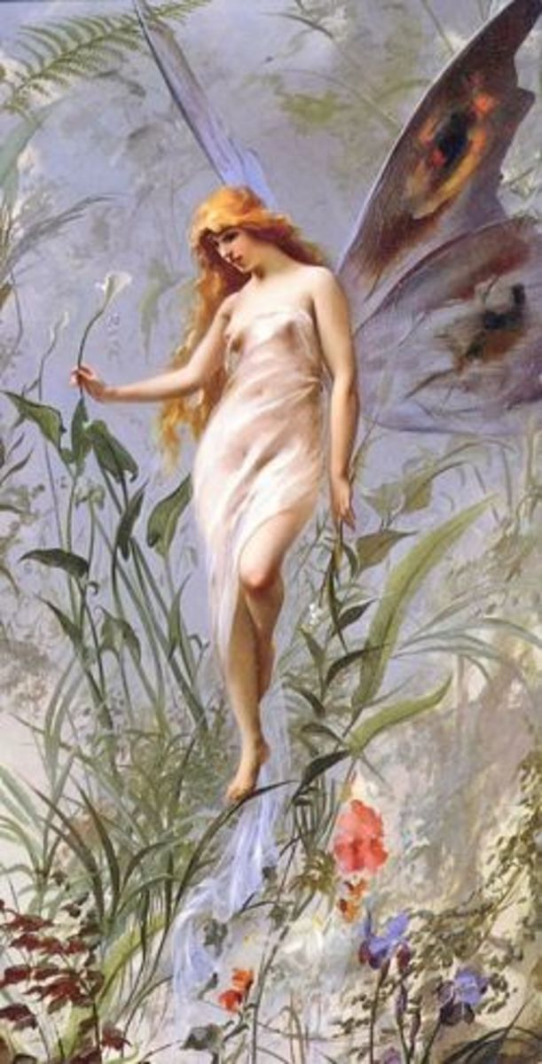 Lily Fairy by Luis RIcardo Falero found on Wikipedia