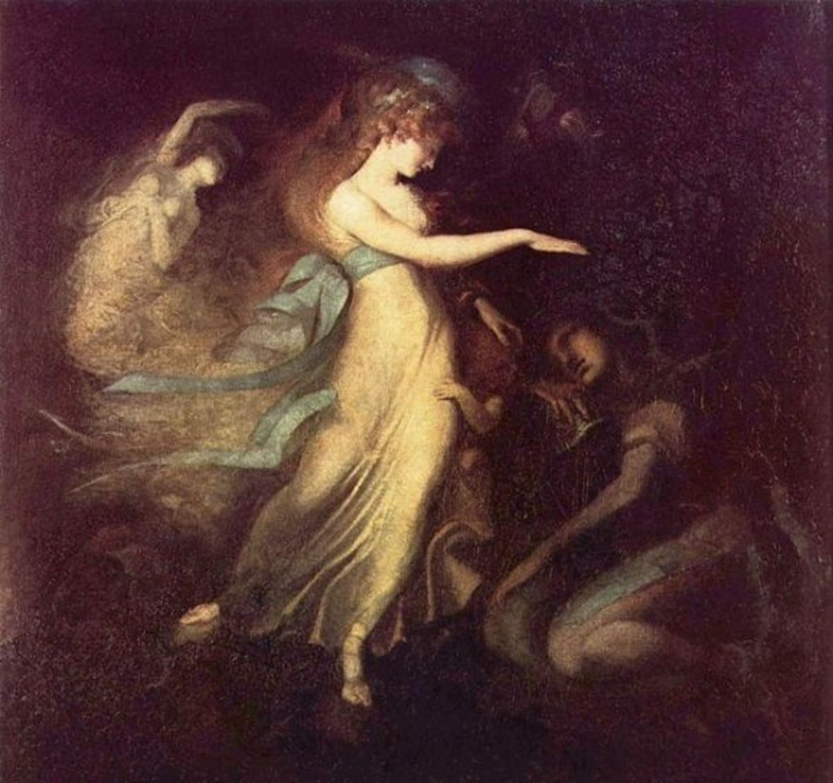 Prinz Arthur And The Fairy Queen by Henry Fuseli found on Wikipedia
