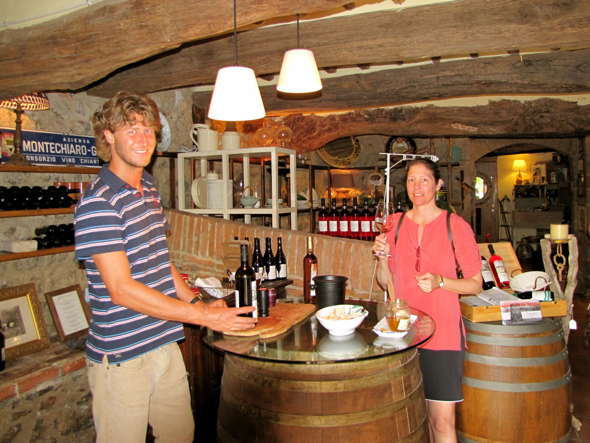 Be sure and stop by one of the wine tasting rooms.