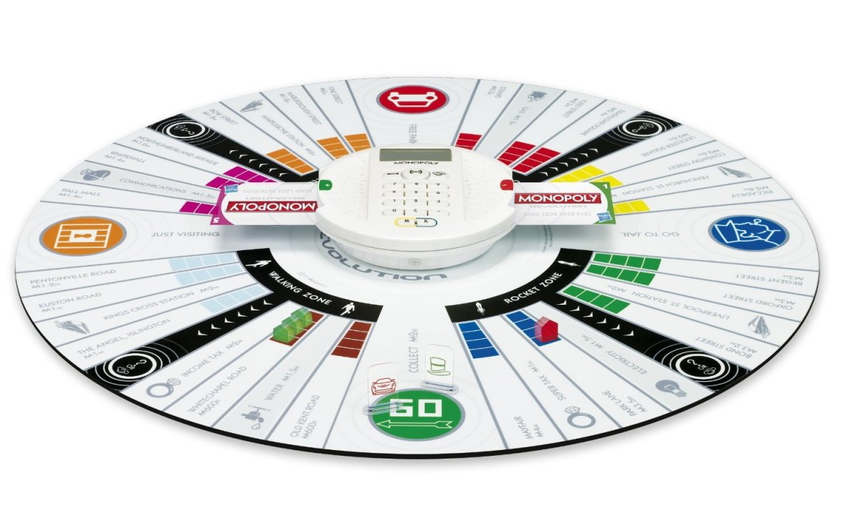 Go round and round the board game with Monopoly Revolution