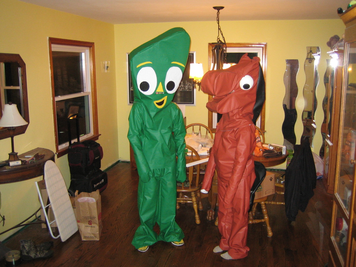 Gumby, Pokey and Blockhead Costumes