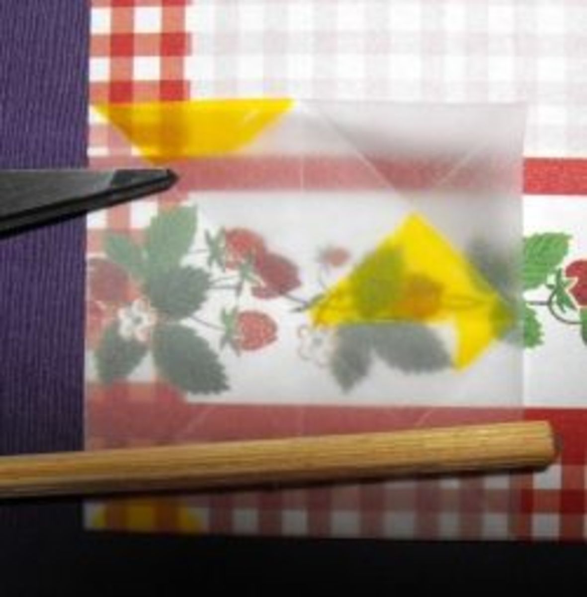 Using  tea bag folding Template