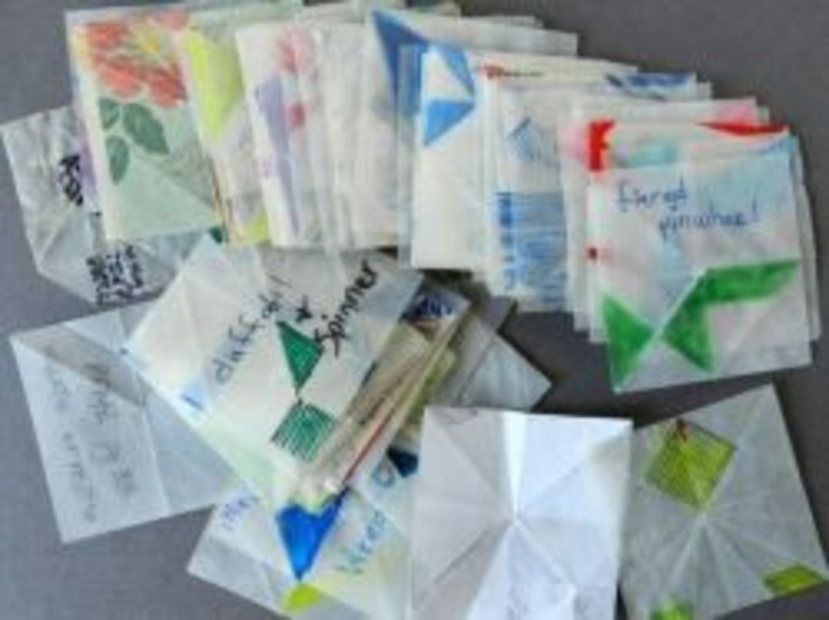 tea bag folding using templates
