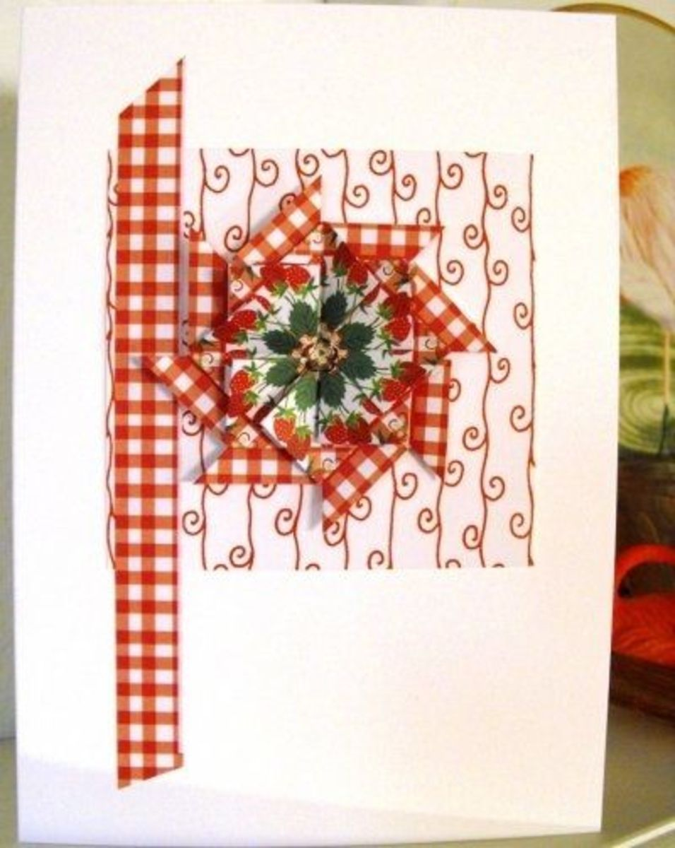 Strawberry Motif Card