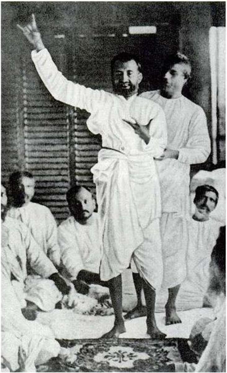 Photo taken on September 21, 1879 showing Ramakrishna Paramahamsa lost in Divine ecstacy