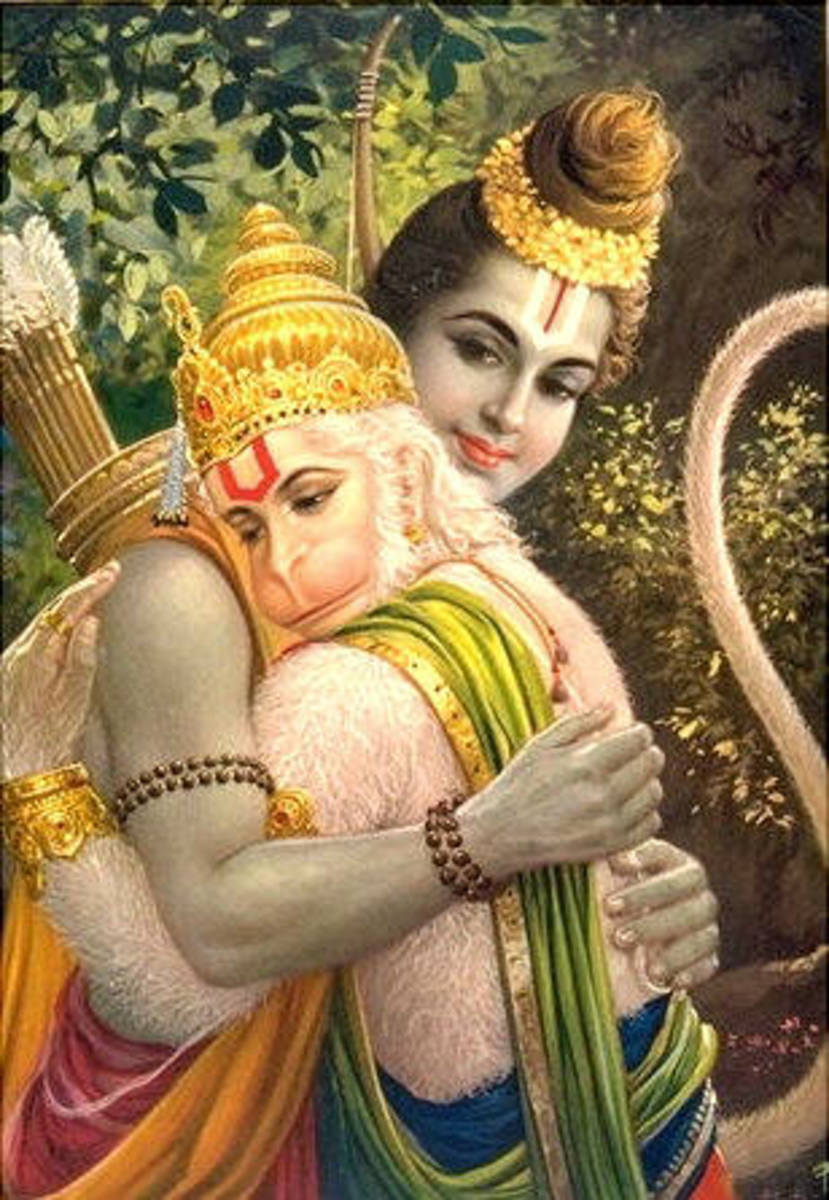 The devotion that Hanuman exhibited towards Rama is indeed worthy of emulation.