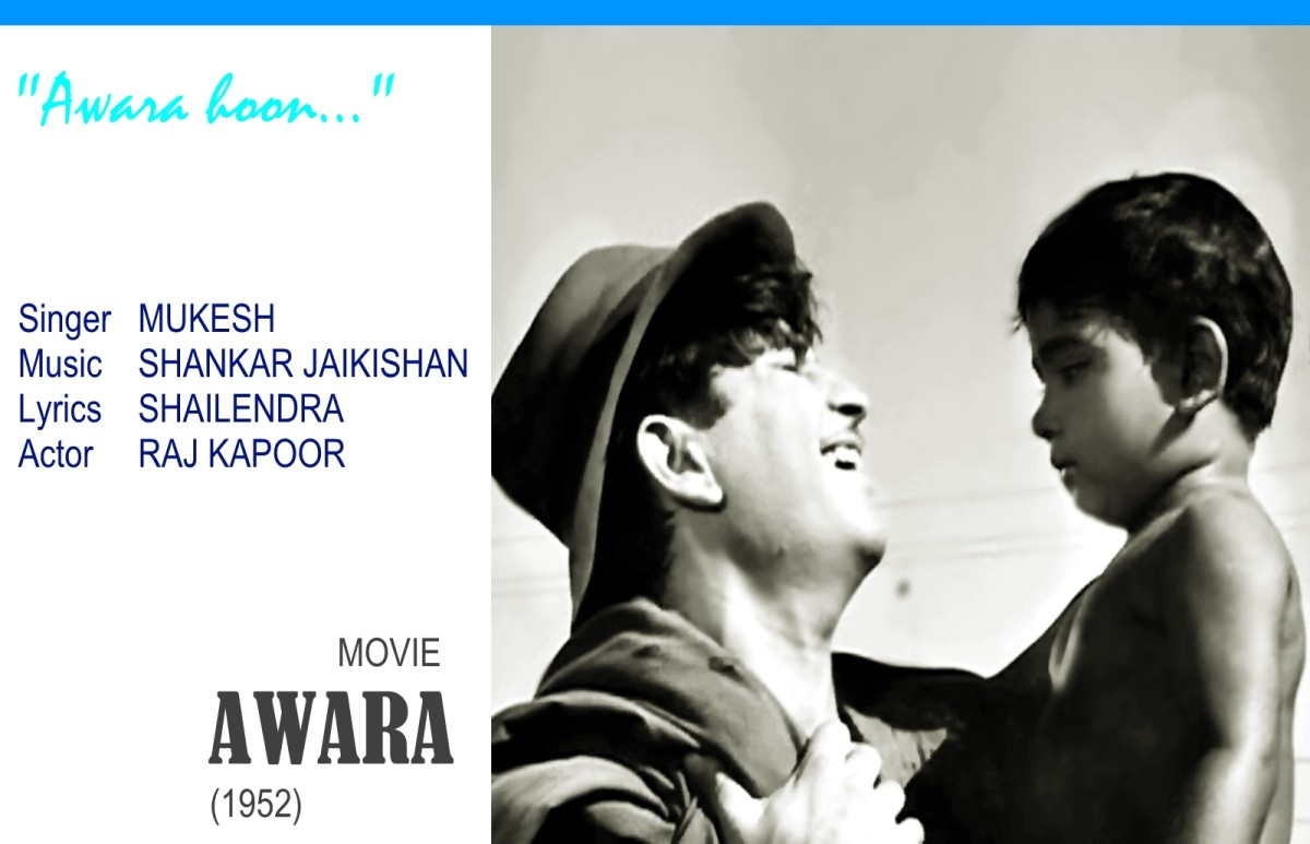 "Raj Kapoor glamorized the life of a vagabond in the song ""Awara hoon.."", for the movie AWAARA (1952)"