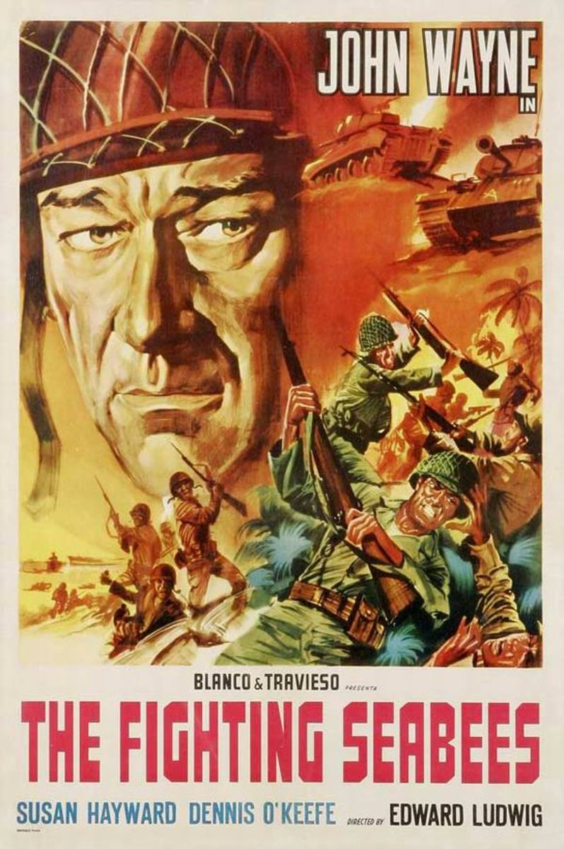 The Fighting Seabees (1944) Spanish poster