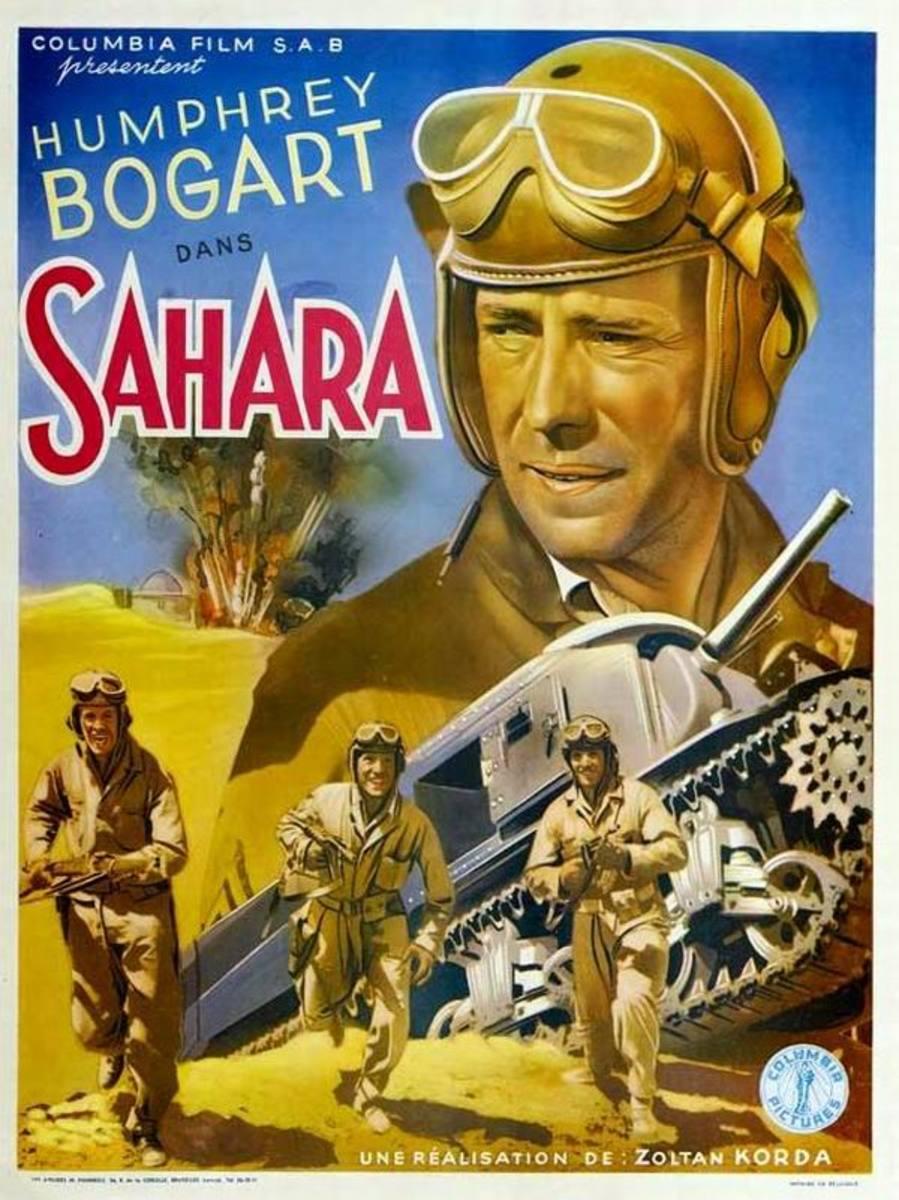 Sahara (1943) Belgian poster
