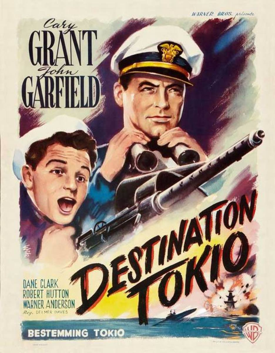 Destination Tokyo (1943) Belgian poster